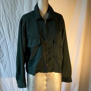 VINTAGE bottle green Men's workwear jacket